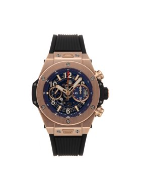 Pre-Owned Hublot Big Bang Unico King Gold Blue 411.OX.5189.RX Watch (Time Remaining on Factory Warranty)