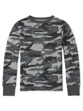 The Children's Place Long Sleeve All Around Camo Print Crew Neck Sweater (Little Boys & Big Boys)