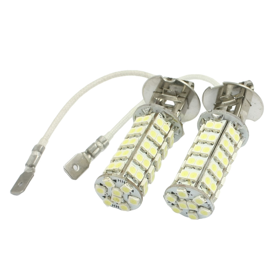 Unique Bargains Unique Bargains 2 Pcs White H3 3528 1210 SMD 68 LED Fog Driving Headlight Bulb Lamp - image 1 de 1