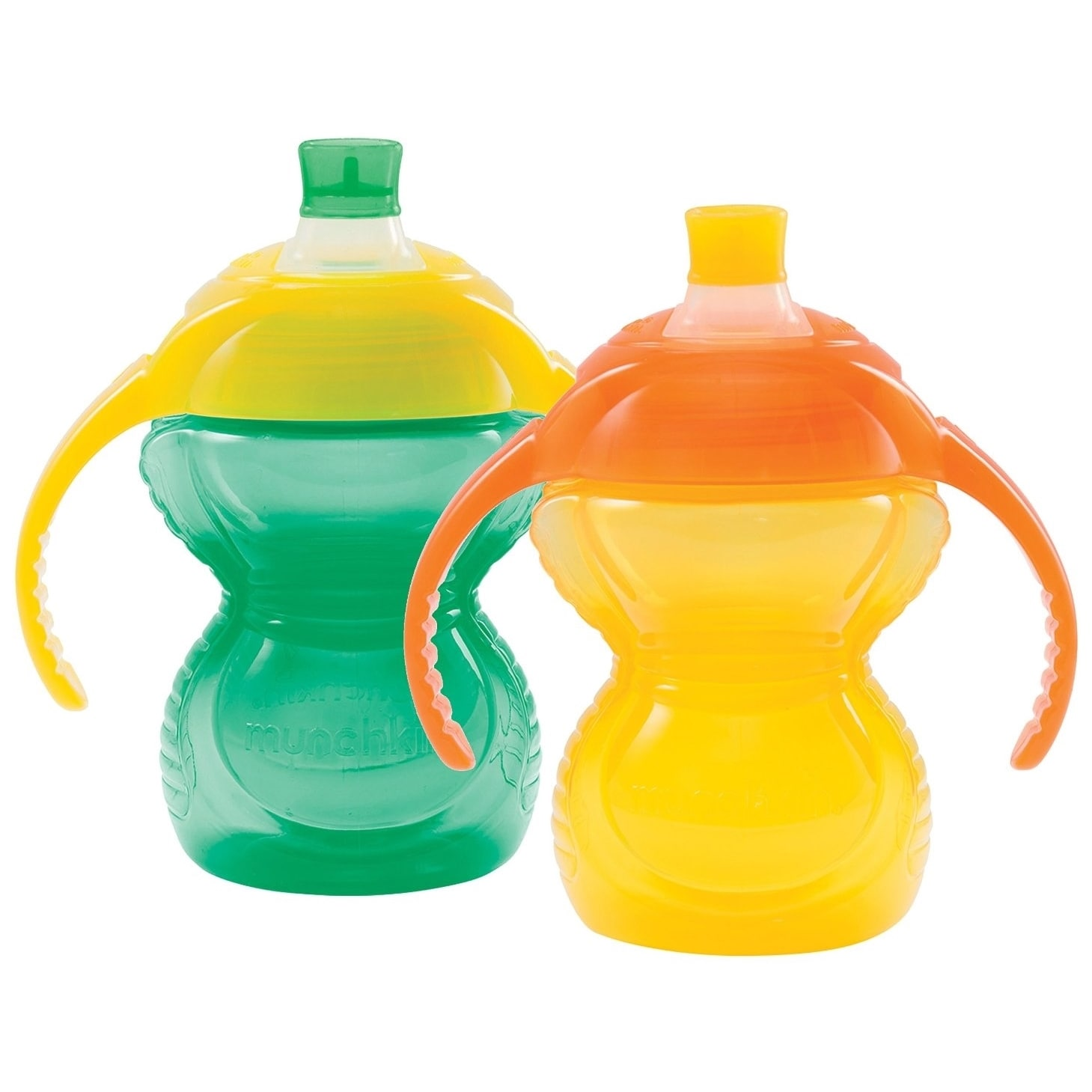 Munchkin  Aqua/Yellow Click Lock Bite Proof 7-ounce Trainer Cup (2 Pack)