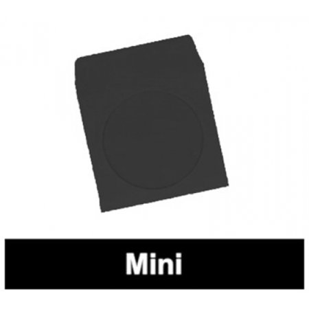 CheckOutStore 300 Black Mini Paper CD Sleeves with Window & Flap