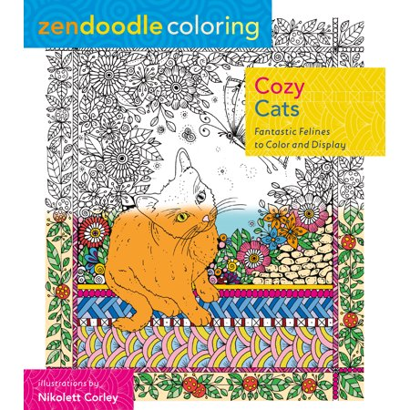 Zendoodle Coloring: Cozy Cats : Fantastic Felines to Color and Display - Printable Halloween Cat Coloring Pages
