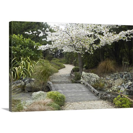 Great BIG Canvas David Wall Premium Thick-Wrap Canvas entitled Spring Blossom, Miyazu Japanese Garden, Nelson, South Island, New