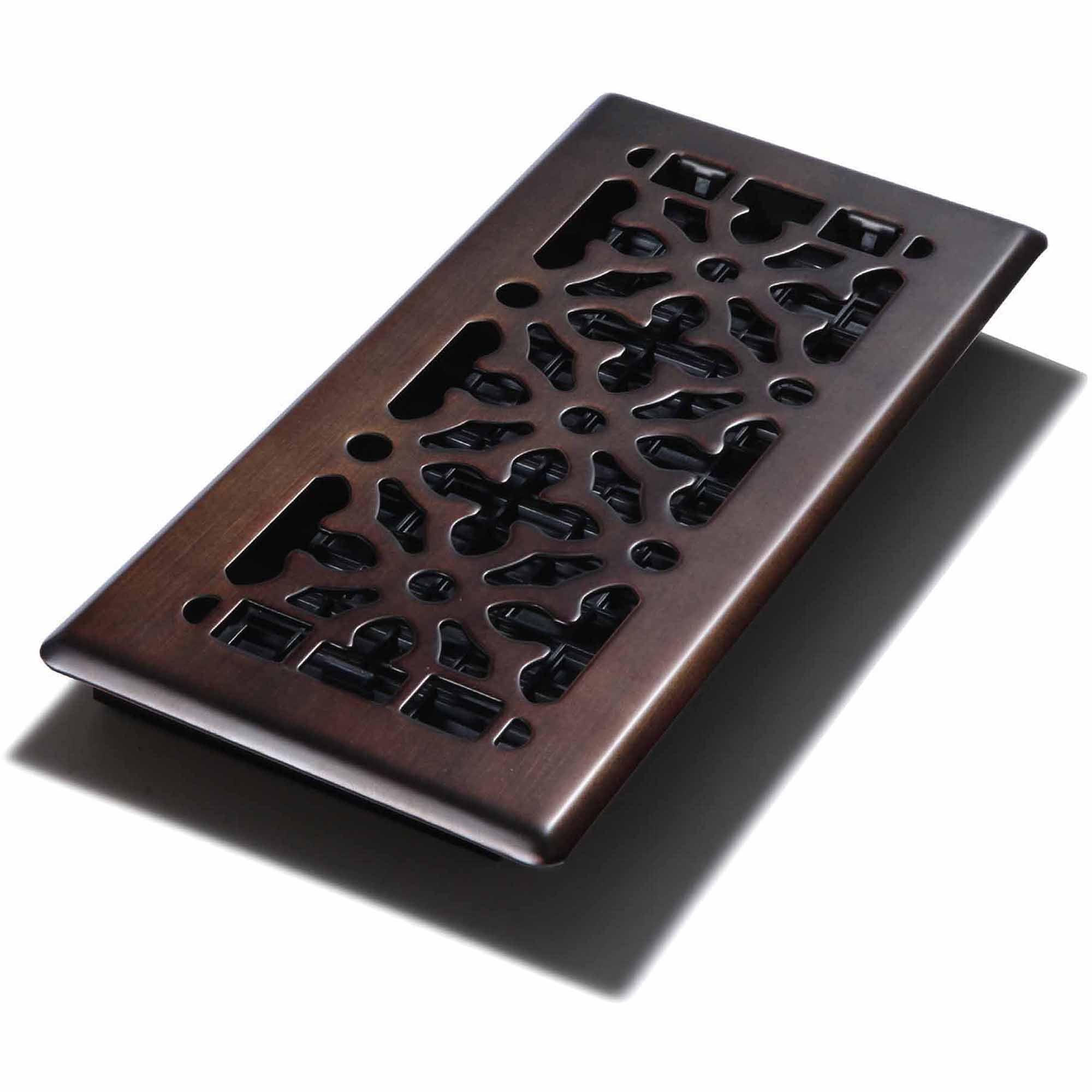 "Decor Grates Gothic Bronze Steel Wall/Ceiling Register, 4"" x 10"""