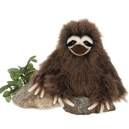 9 5  Three Toed Sloth Sitting Plush Stuffed Animal Toy By  Nice Quality And Detail  By Fiesta Toys