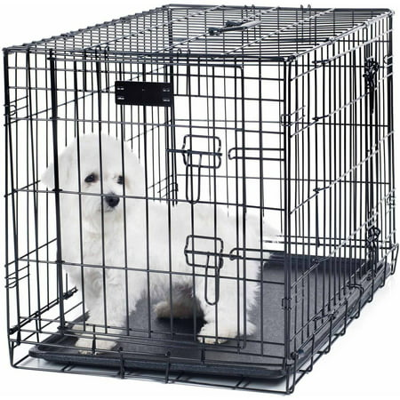 Petmaker Small 2 Door Foldable Dog Crate Cage ()