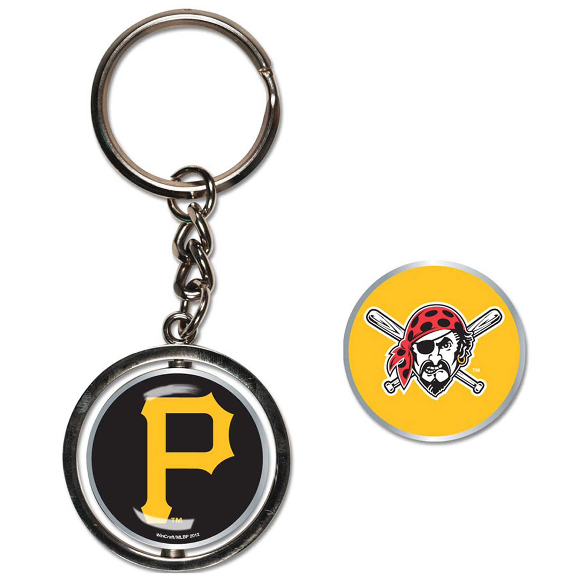 Pittsburgh Pirates WinCraft Spinner Key Ring - No Size