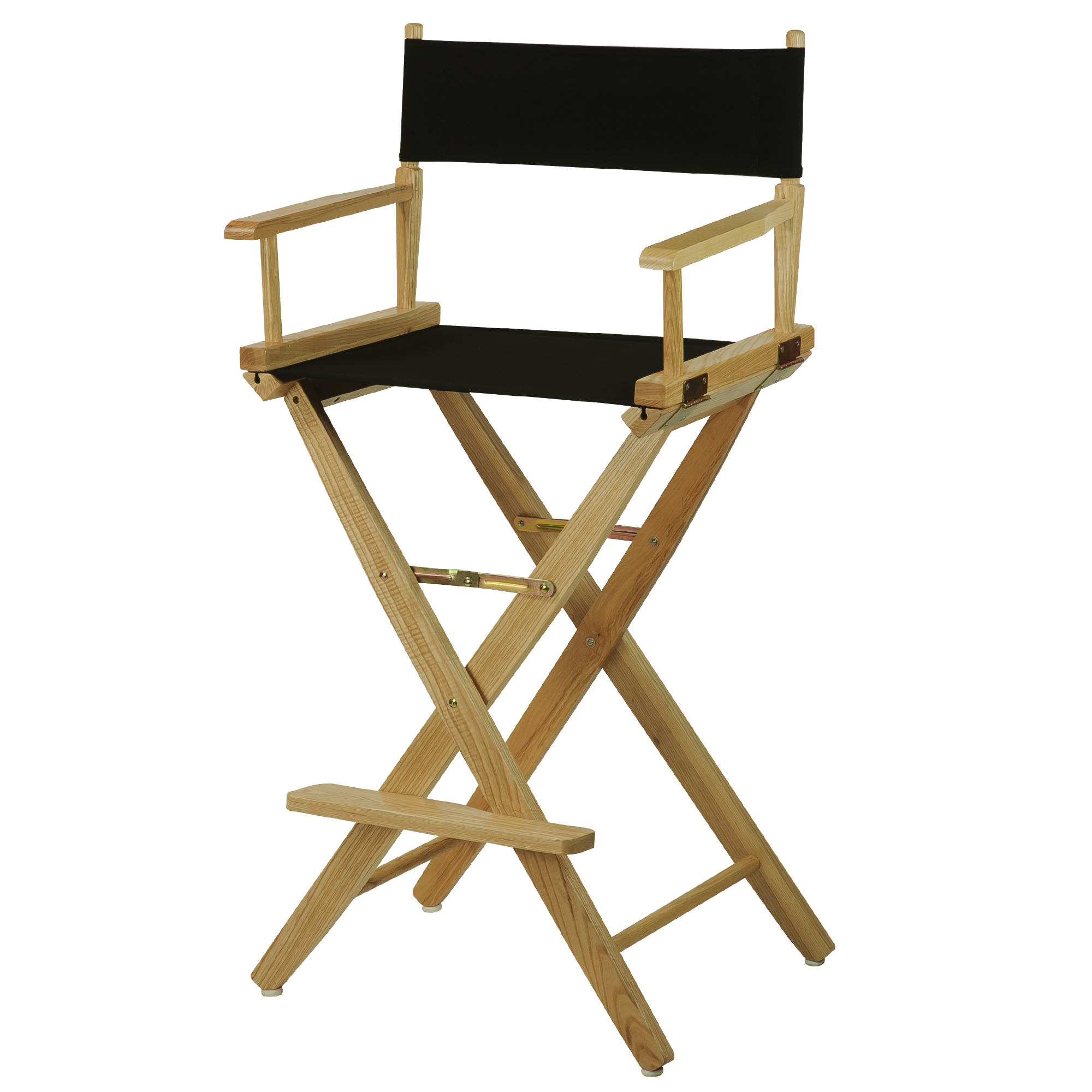 "Extra-Wide Premium 24"" Directors Chair Natural Frame W/Navy Color Cover"