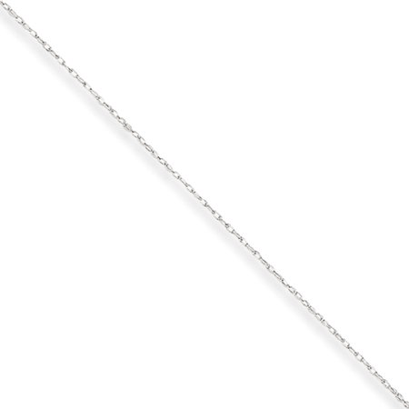 10k White Gold Filigree (10k White Gold .5 mm Carded Cable Rope Chain )
