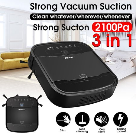 Robot Vacuum,Venso 2100Pa Self-Charging Robotic Vacuum Cleaner and Mop with Remote Control