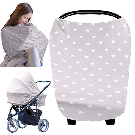 Baby Carseat Canopy Nursing Cover - All-in-1 Multi Use Nursing Covers - Carseat Canopy - Breastfeeding Scarf - Stroller Covers - Shopping Cart Hammock - Perfect Gift for Pregnant Moms (Starry Charm) At KeaBabies, we understand that breastfeeding in public might be stressful for new mommies. That is why, our ultra soft and stretchy KeaBabies Multi-Use Cover provides a 360 degree coverage for all new breastfeeding moms to feel confident and enjoy the special moment with your little one. Your baby may even fall asleep after feeding as it is so comfortable to be under the cover.