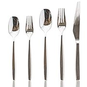 Contemporary Flatware Silverware Cutlery Sets 20 Piece Stainless Steel Utensils Set For 4, Include Forks/Spoons/Knives, Home & Kitchen Dinnerware Tableware Sets,