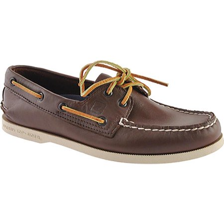 7bde6d65659 Sperry Top-Sider - Sperry Top-Sider Leeward 2-Eye Mens Dark Brown Boat Shoes  - Walmart.com