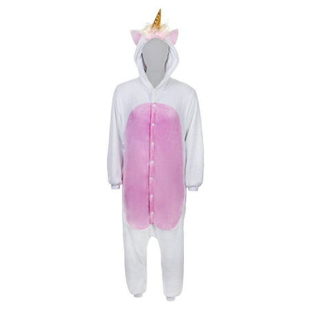 SMOKO Magicorn Unicorn Onesie | Adult Cozy Halloween Costume | White Cosplay One Piece