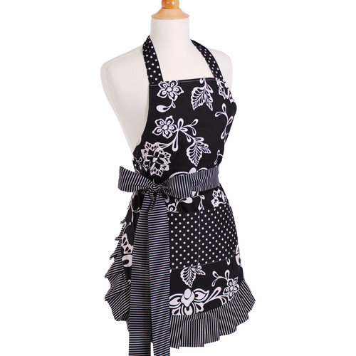 Flirty Aprons Women's Apron in Sassy Black
