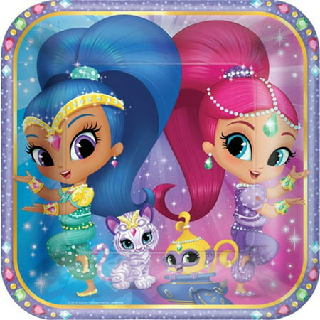 Large Paper Plates (8ct) By Shimmer and Shine - Shine Paper