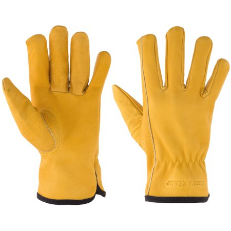 Top Grain Leather Work, Gardening Gloves for Children Ages 6-8 ()