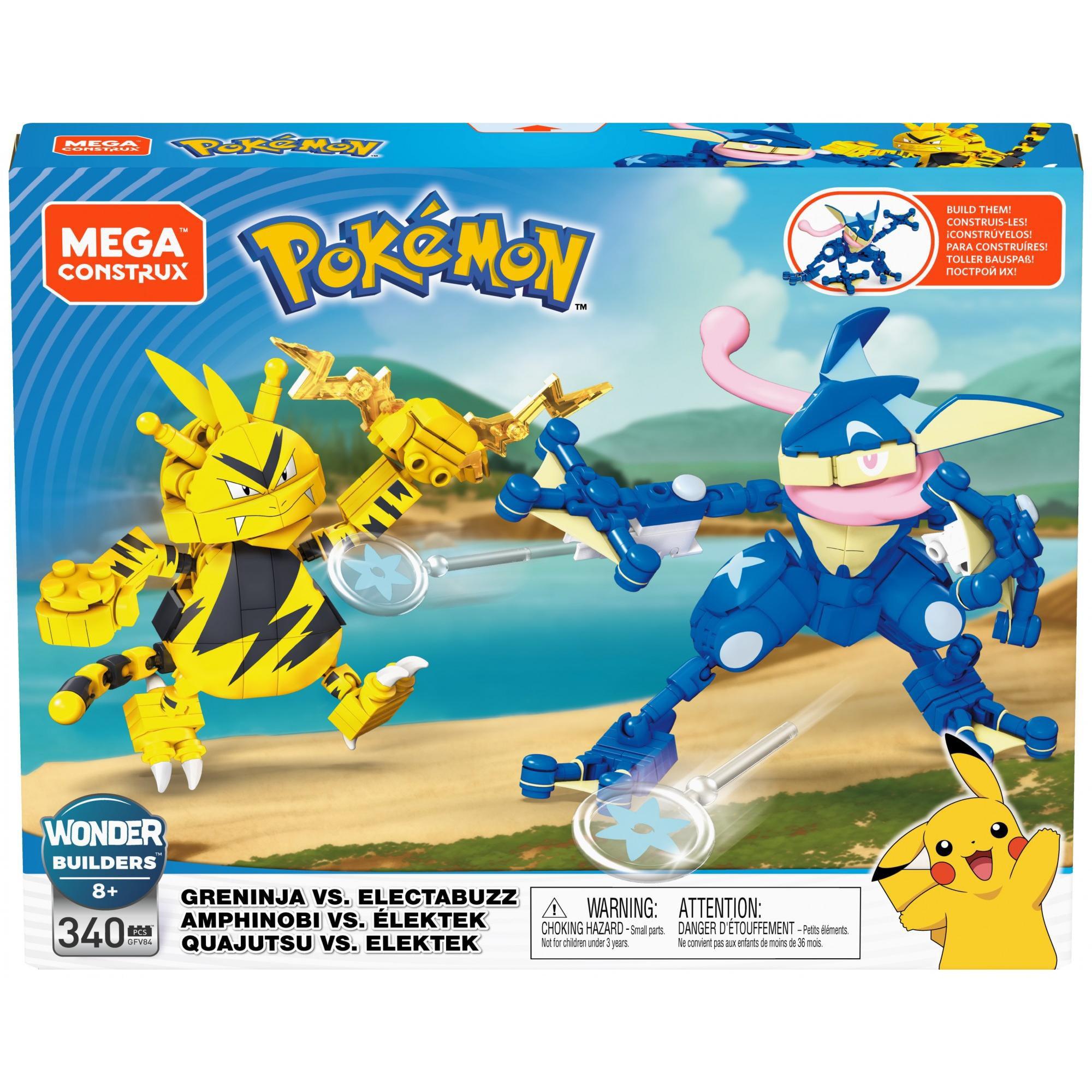 Mega Construx Pokemon Buildable Greninja vs. Electabuzz Figures