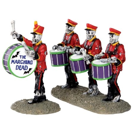 Lemax 32101 DRUM CORPSE Spooky Town Figurine Set of 2 Halloween Decor Figure (Halloween Town 1)
