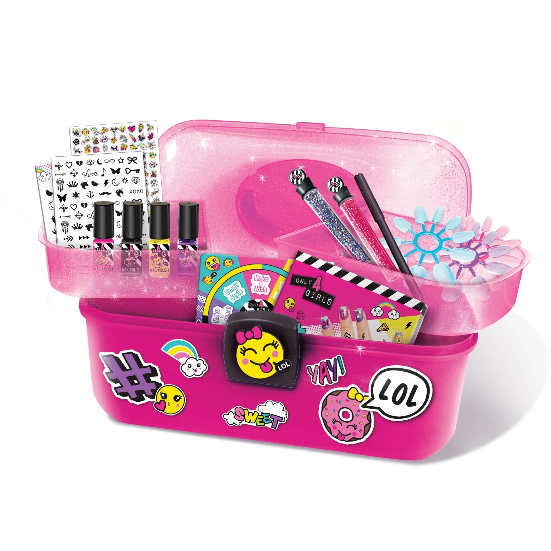 Only 4 Girls - Nail Art Caddy Set - Walmart.com
