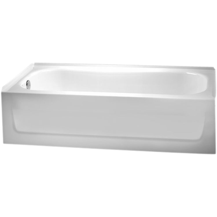 Crane 2725 White 5' Left Hand Armorplus Tub