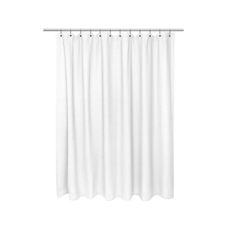 Extra Long Size 100% Cotton Waffle Weave Shower Curtain,
