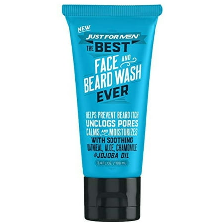 4 Pack - Just For Men The Best Face & Beard Wash Ever, 3. 4 (Best Face Cleaner For Men)