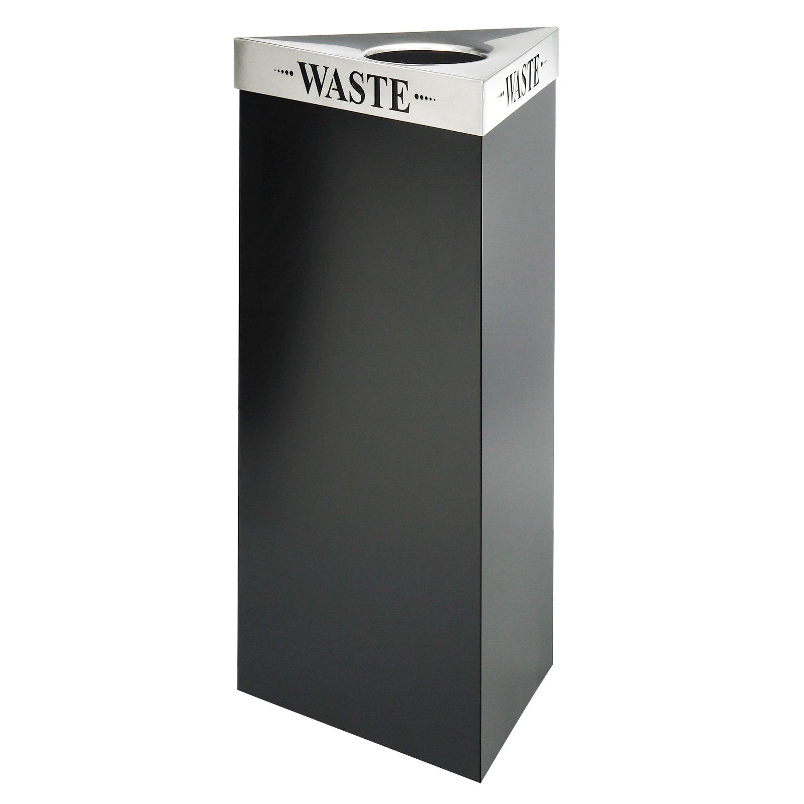 Safco Trifecta 21 Gallon Waste Receptacle Black Recycling Bin