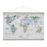 Animal World Map by Drew Barrymore Flower Kids
