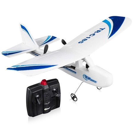 Top Race Cessna C185 Electric 2 Ch Infrared Remote Control RC Airplane RTF (Colors -