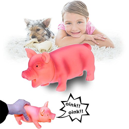 Dazzling Toys Pig Toy With Real Squeak  Pink