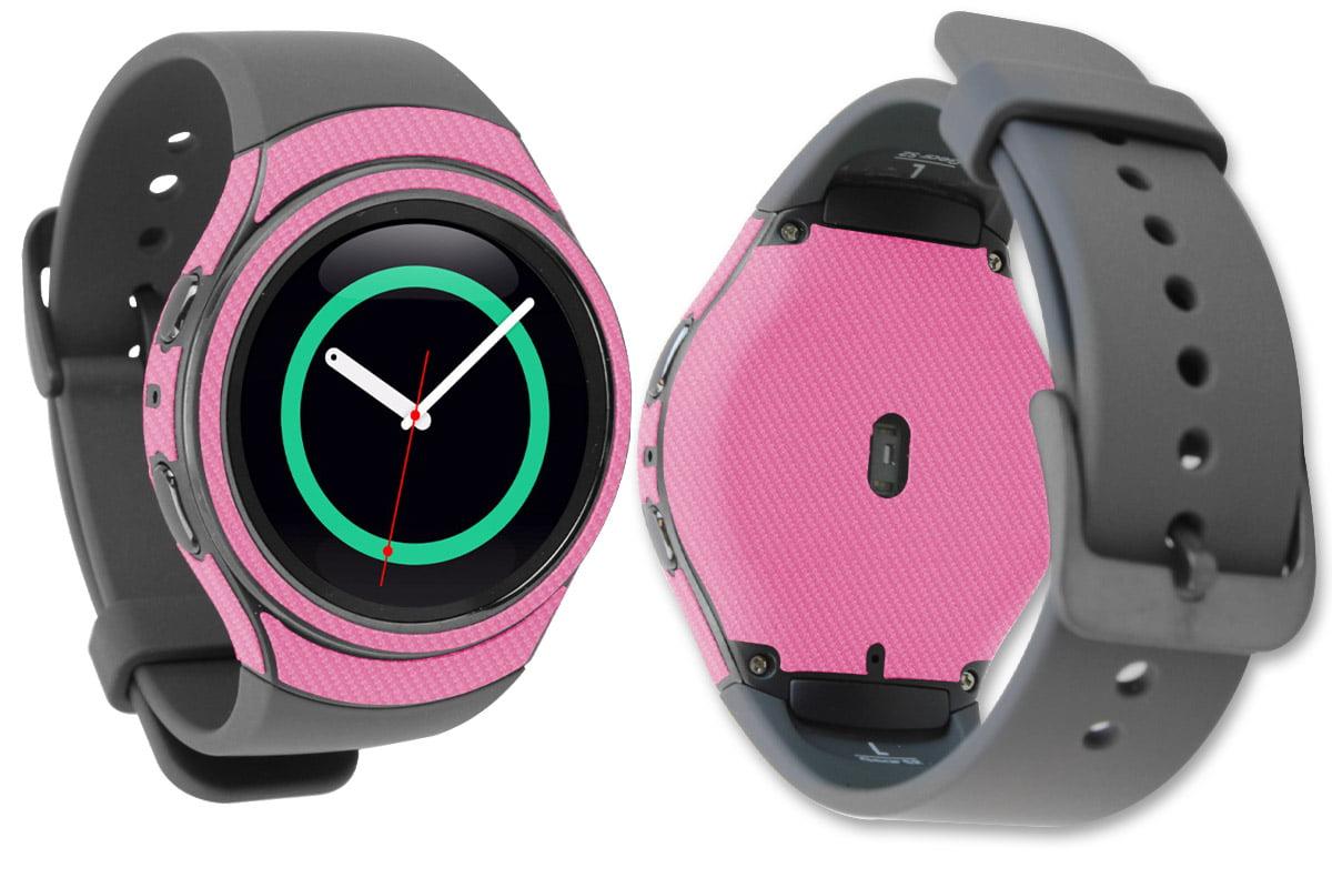 Skinomi Pink Carbon Fiber Skin & Screen Protector for Samsung Gear ...
