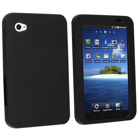Silicone Skin Case for Galaxy Tab P1000 - Black