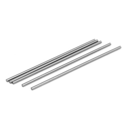 2.5mm Dia 100mm Length HSS Round Shaft Rod Bar Lathe Tools Gray 5pcs - image 1 of 1