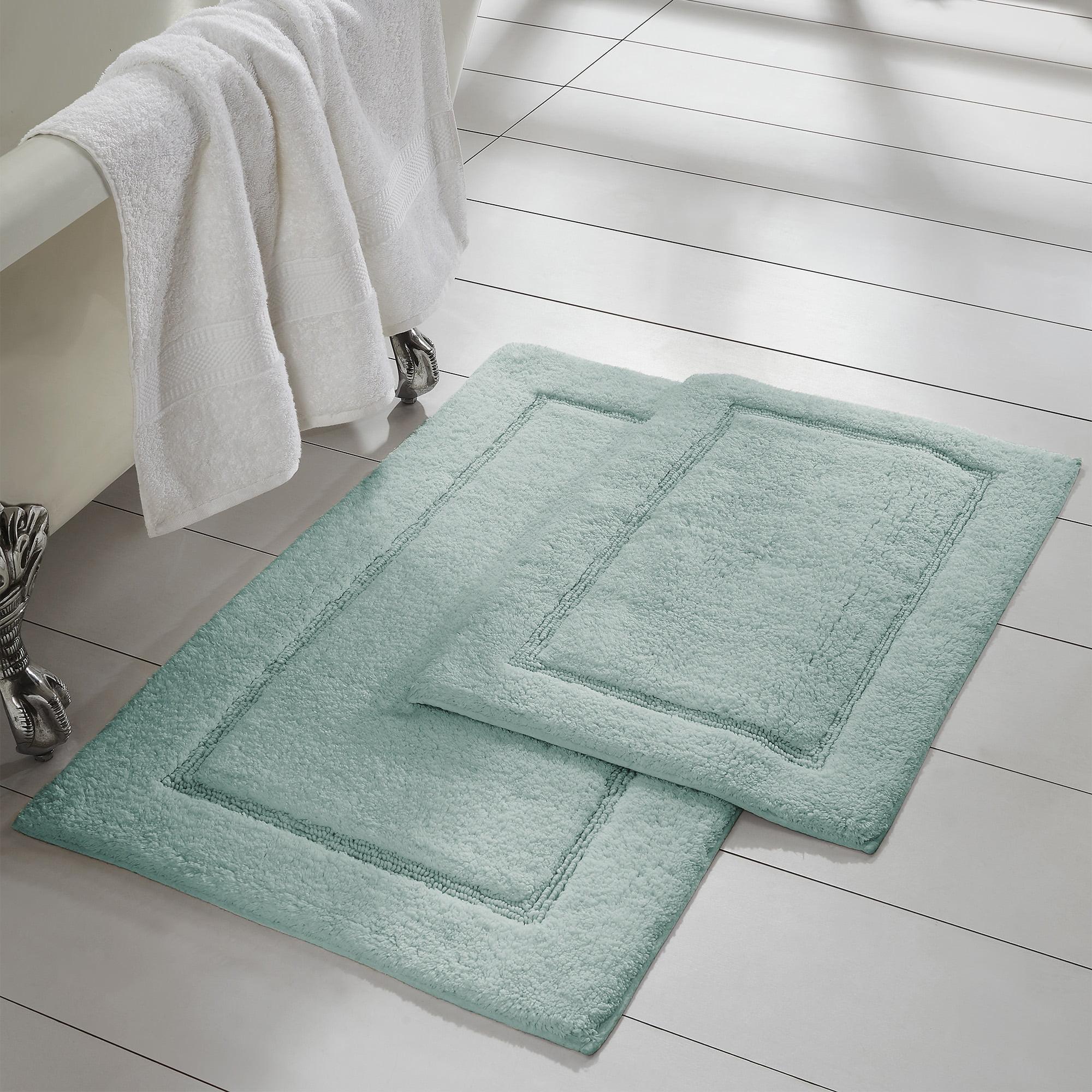 2 Piece Non Slip Cotton Bath Rug Set 17 X 24 21 X 34 White Walmart Com Walmart Com