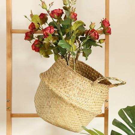 Seagrass Wicker Basket Wicker Basket beauty Flower Pot Folding Basket Dirty Basket BG (Fields Spa Gift Basket)