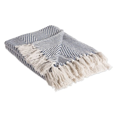 - DII Rustic Farmhouse Cotton Chevron Blanket Throw with Fringe For Chair, Couch, Picnic, Camping, Beach, & Everyday Use , 50 x 60