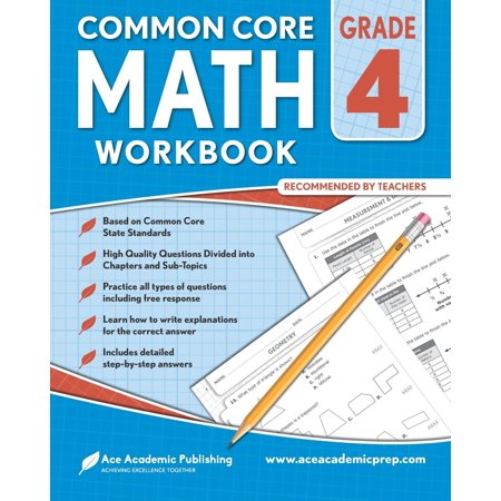 4th Grade Math Workbook: Commoncore Math Workbook - Halloween Math Lessons 4th Grade