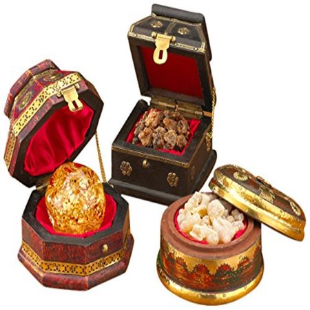 Christmas Three Kings - Three Kings Gifts Christmas Gold, Frankincense and Myrrh Deluxe Box, Set of 3