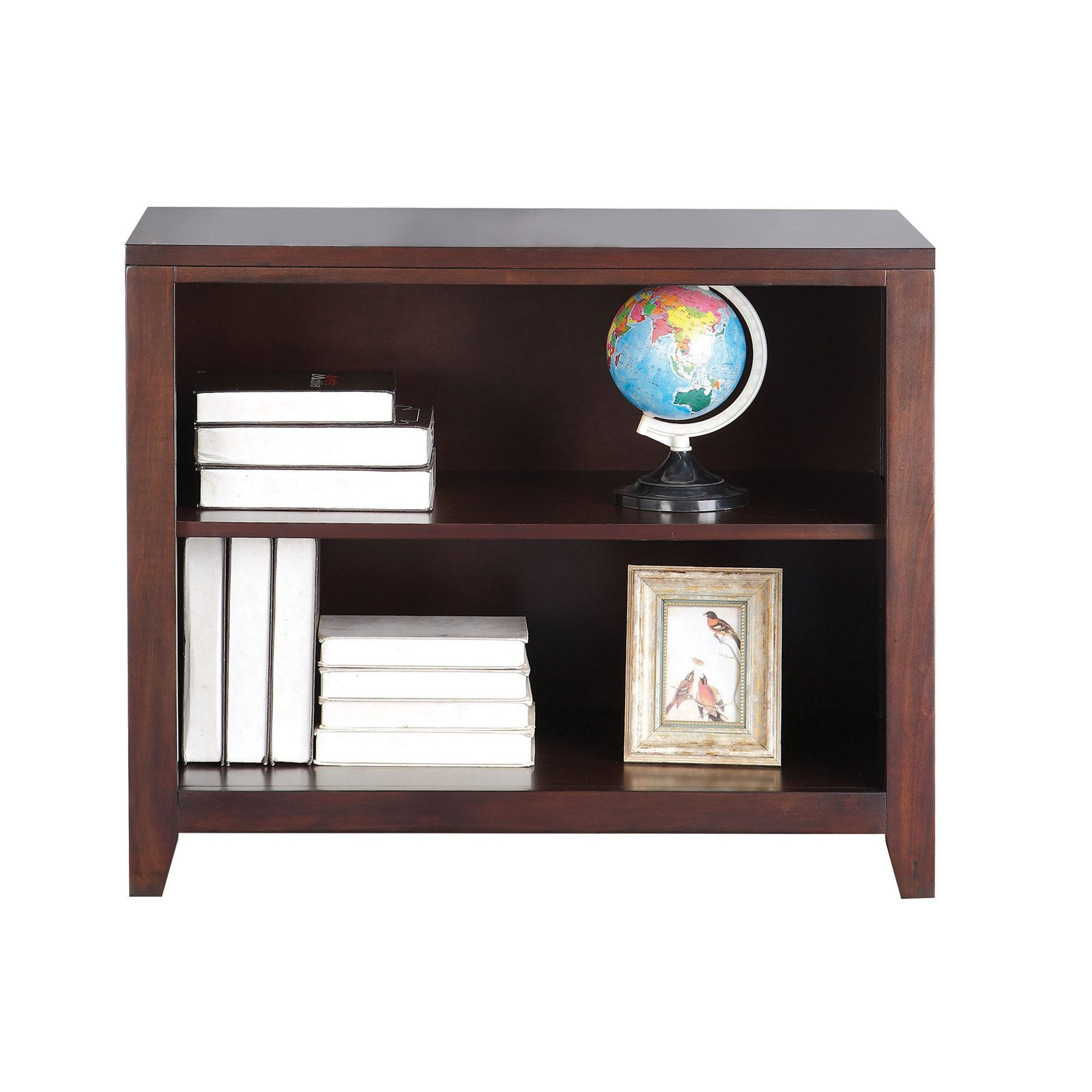 Simple Looking Wooden Bookcase, Espresso Brown
