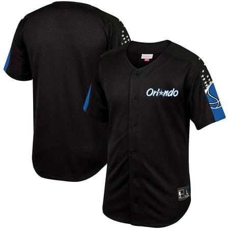 Orlando Magic Mitchell & Ness Winning Team Mesh Button Front Shirt - (Orlando Bargain Warehouse)