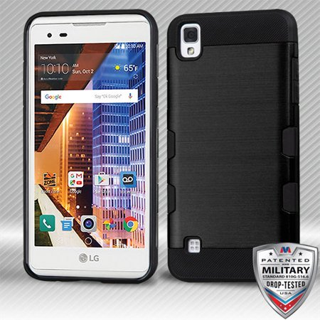 For LG Tribute HD/X Style Brushed TUFF Trooper Hybrid Armor Protector Case Cover](Affordable Trooper Armor)