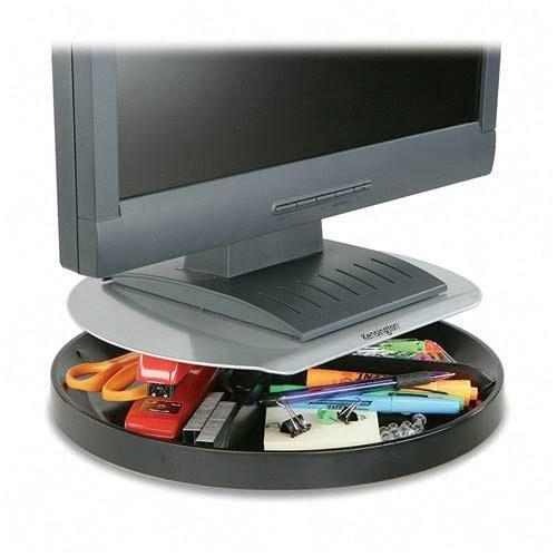 Kensington 60049 Spin2 Monitor Stand with SmartFit System - Up to 40lb LCD Monitor - Black