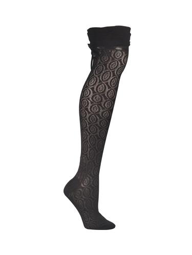 ozone socks - high ties over the knee sock - beige