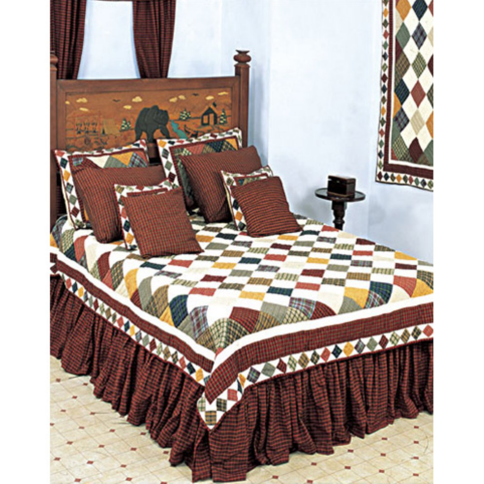 Patch Magic QQRUSC Rustic Cabin, Quilt Queen 85 x 95 inch