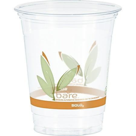 Solo, SCCRTP12BARE, Bare Eco-Forward RPET Clear Cold Cups, 1000 / Carton, - Bare Rpet Cold Cups