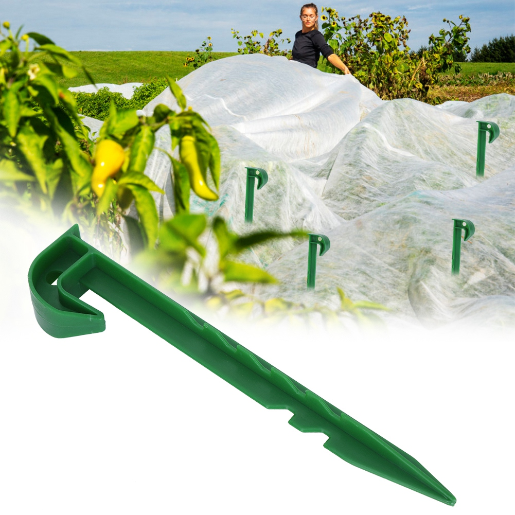 10 Sets PE Plastic Tent Stakes Camping Tent Garden Netting Ground Tent Hooks