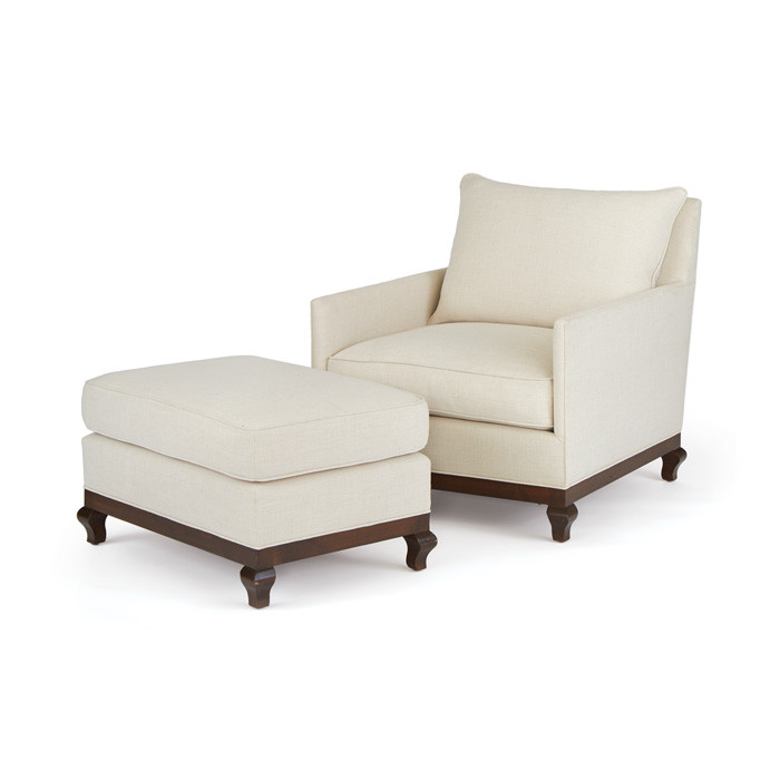 "Eclipse Home Collection Bac Ottoman Galveston Sandlewood Brass Nailheads 60"" L x 40"" W x 18"" H by"