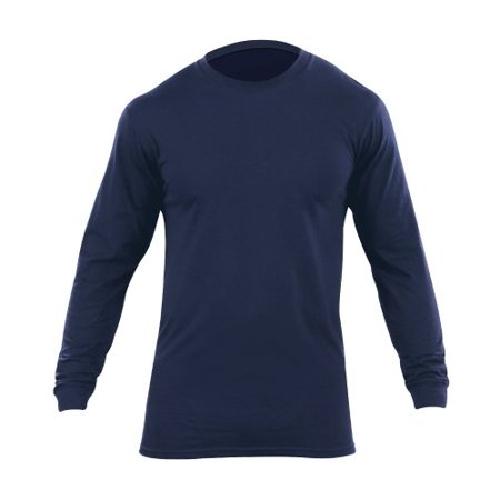 5.11 Tactical Pack of 2 Long Sleeve Utili-T Shirt, Dark Navy 5.11 Tactical Pack of 2 Long Sleeve Utili-T Shirt, Dark Navy: Durable, comfortable and functionalSized to match 5.11 PDU and TDU duty wearTapered shoulders for mobility1 , no roll, high density collarMoisture wicking technologyAccepts embroidery and silk screening well4.5 oz ring spun cottonCrew neckExtra longDouble needle tailoringPrinted label