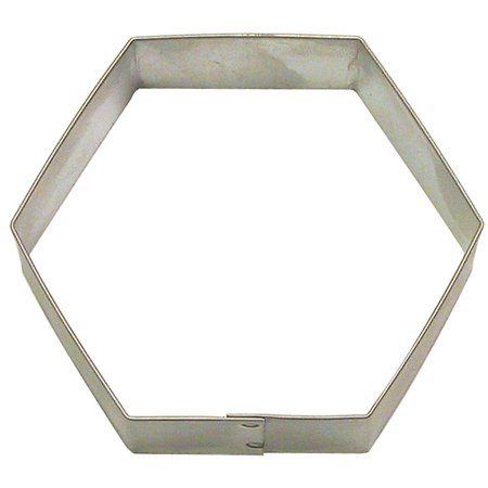 Hexagon Cookie Cutter 3 in B701 - Foose Cookie Cutters - USA Tin Plate Steel ()